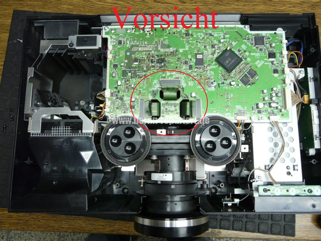 Panasonic PT-AE4000 Punkten in Bild, Reinigen (6)