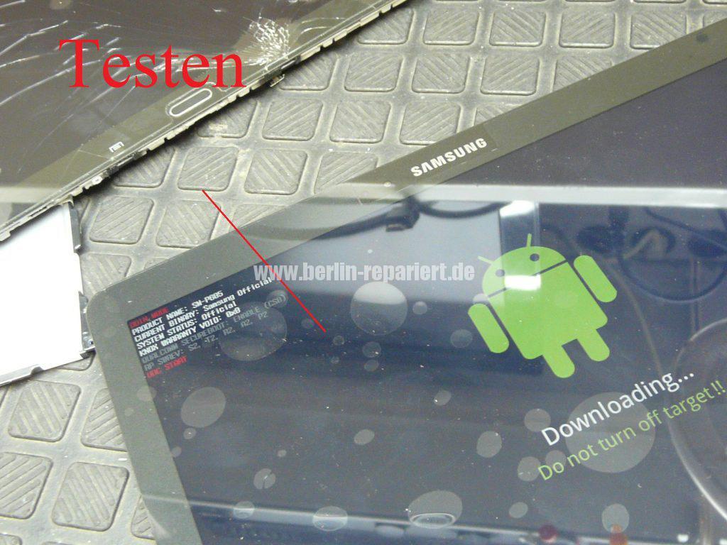 Samsung Galaxy TAB 2014Edition SM-P605, Display defekt, Akku austauschen (14)