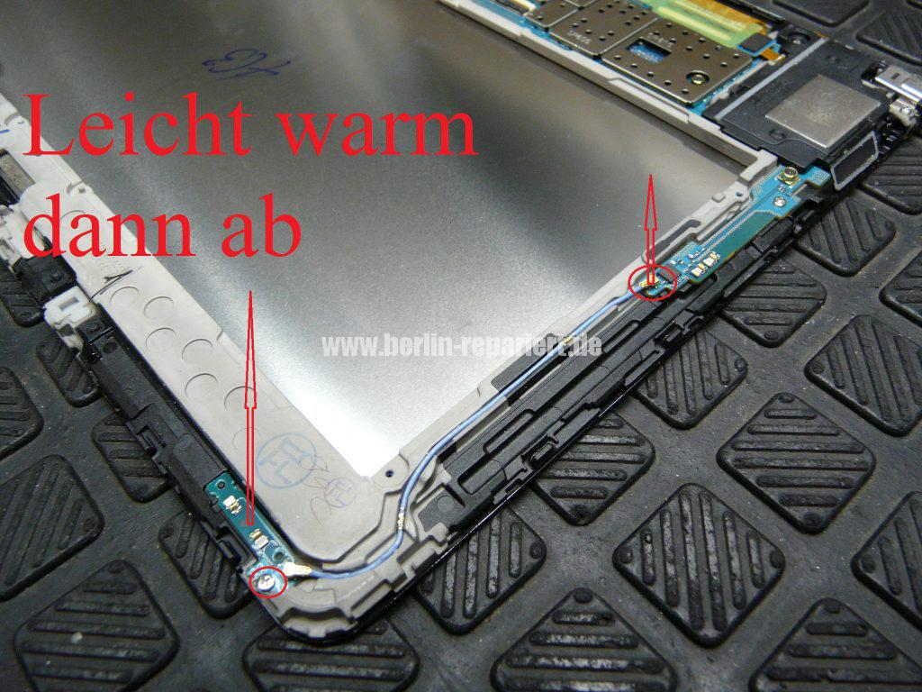 Samsung Galaxy TAB 2014Edition SM-P605, Display defekt, Akku austauschen (6)