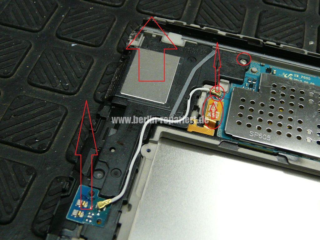 Samsung Galaxy TAB 2014Edition SM-P605, Display defekt, Akku austauschen (9)