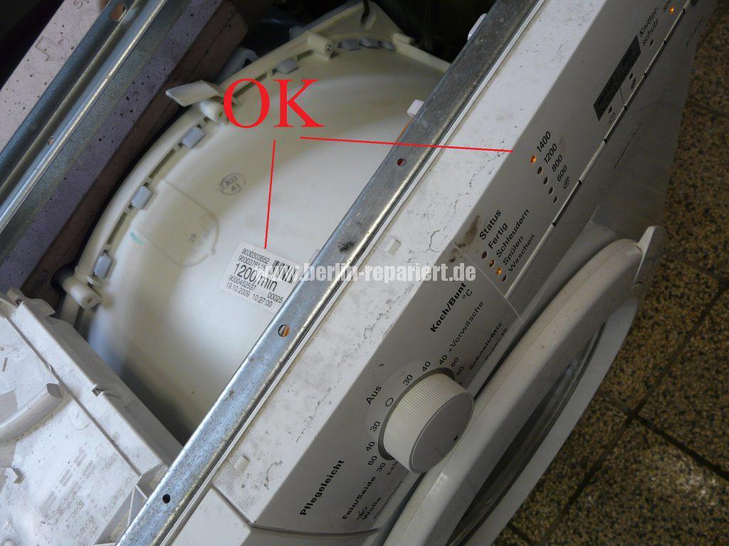 Siemens E14, Laugenbehälter-Trommeleinheit Kugellagerschaden (26)