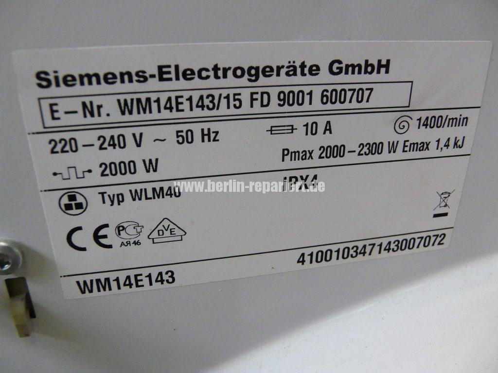Siemens E14, Laugenbehälter Trommeleinheit Kugellagerschaden (6)
