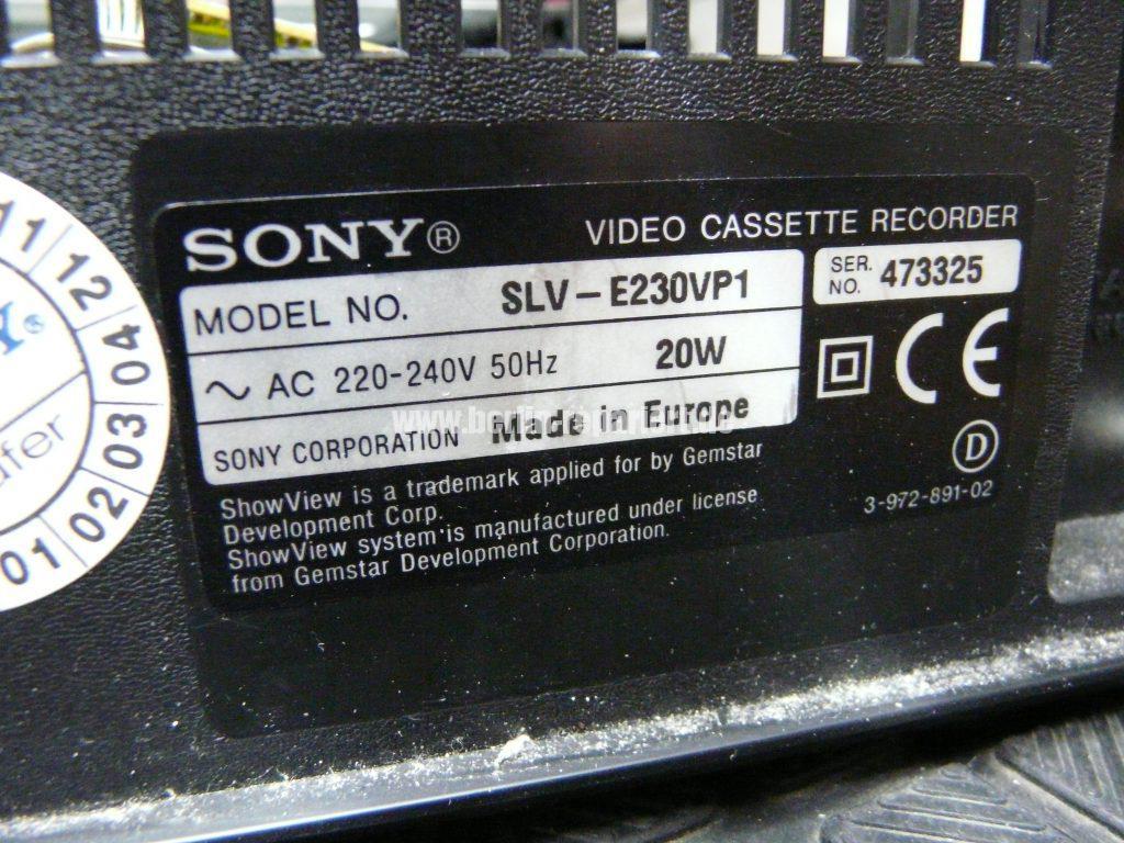 Sony SLV-E230, Ton ist leise (5)