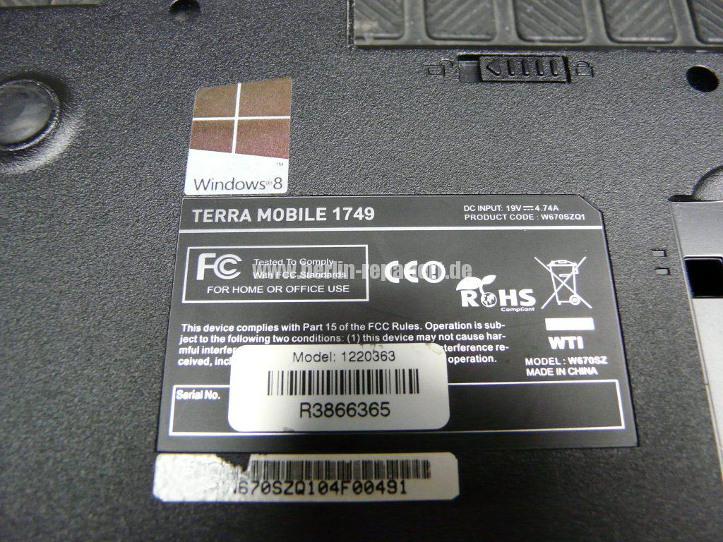 Terra Mobile 1749, Tastatur Defekt (10)