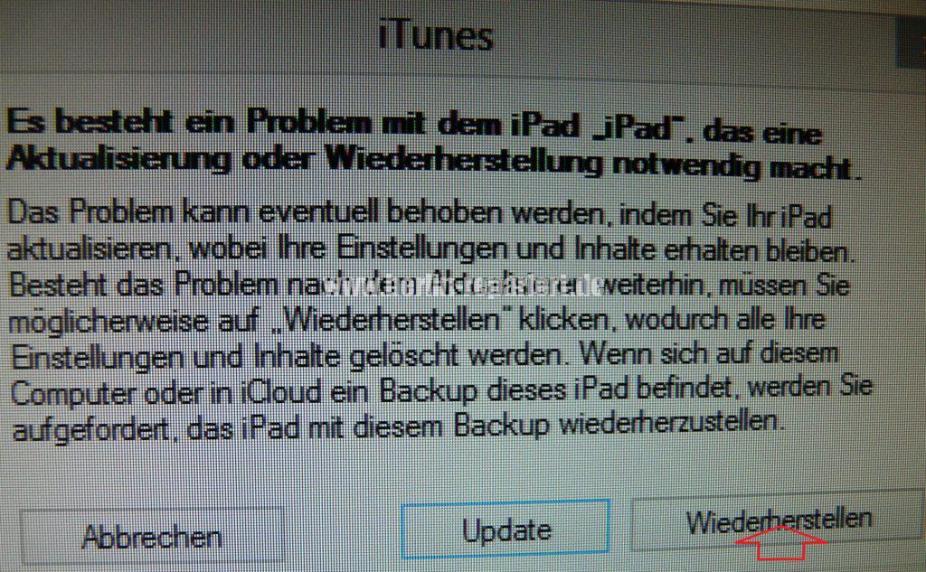 iPad ist deaktiviert (3)