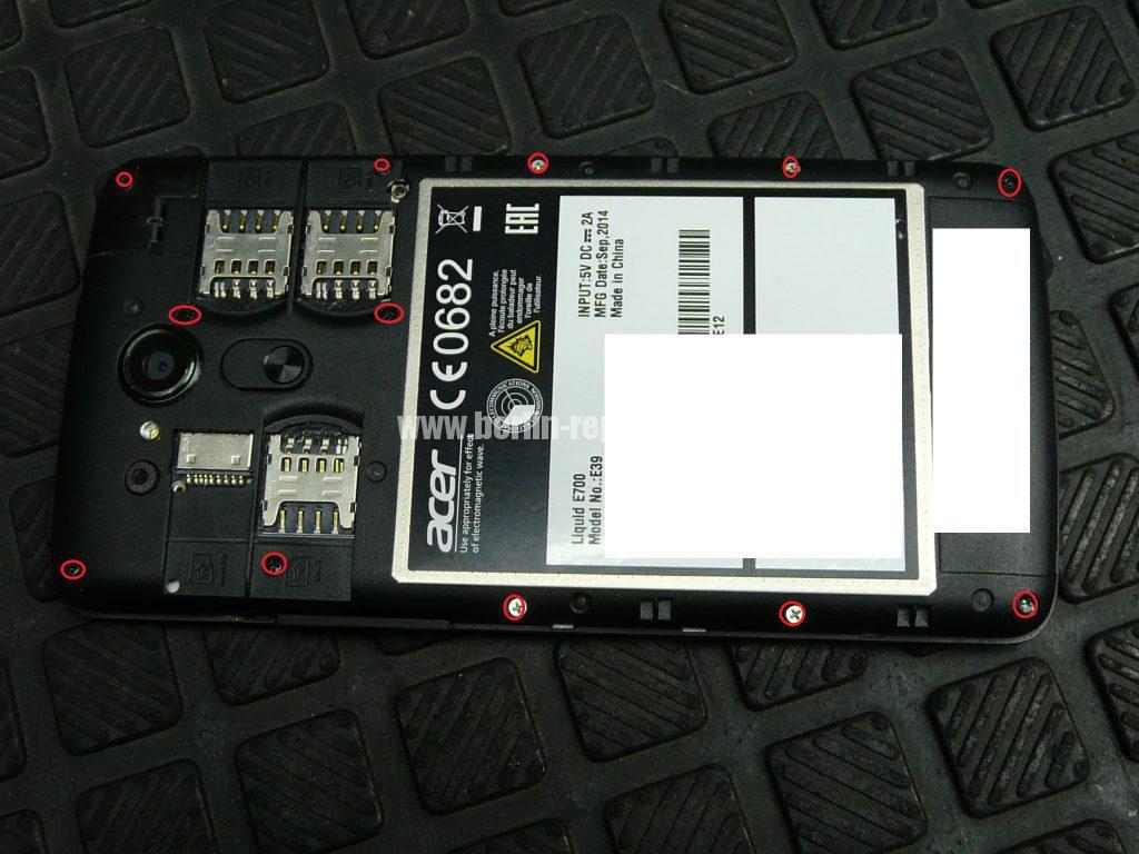 ACER Liquid E700, Display Defekt (2)