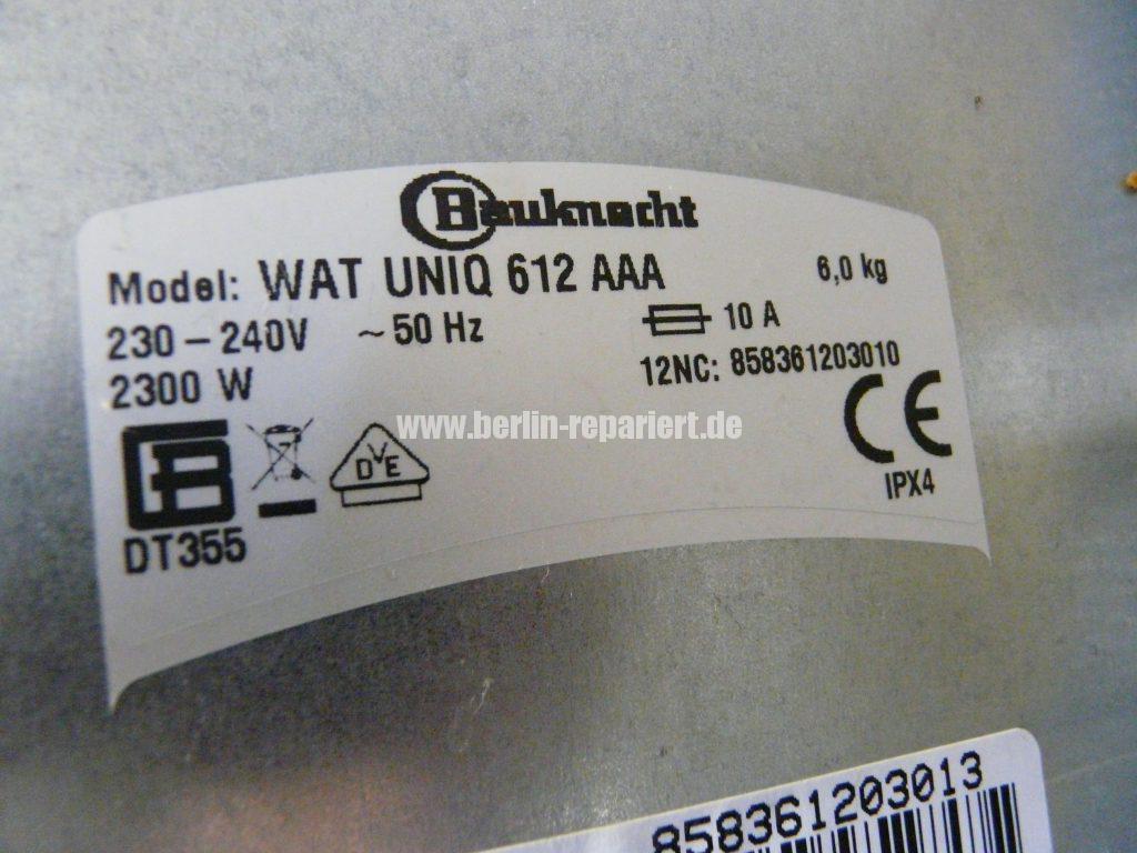 Bauknecht WAT UNIQ &12 AAA, Motor dreht nicht (7)