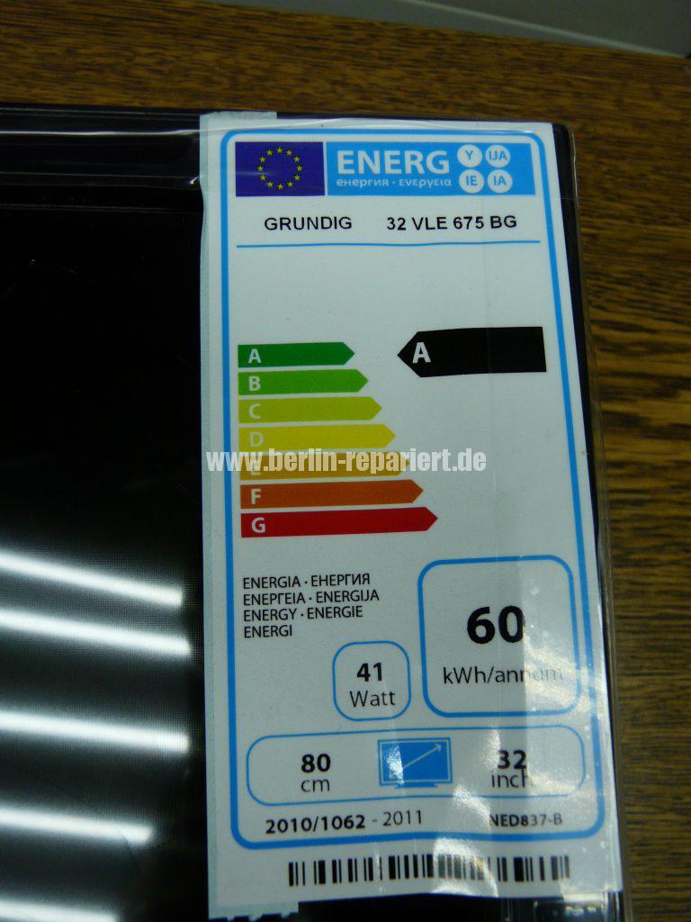 Grundig 32 VLE 675, Display Schaden (7)
