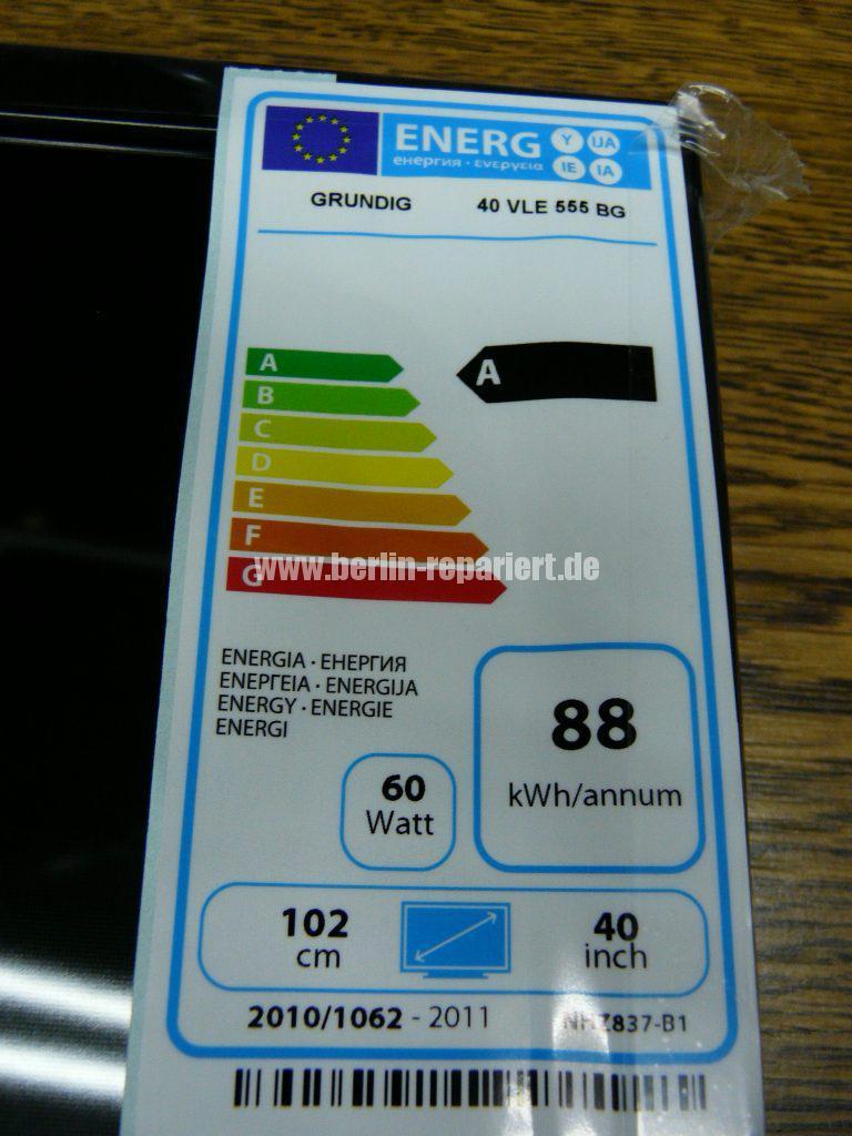 Grundig 40 VLE 555, Display Schaden (3)