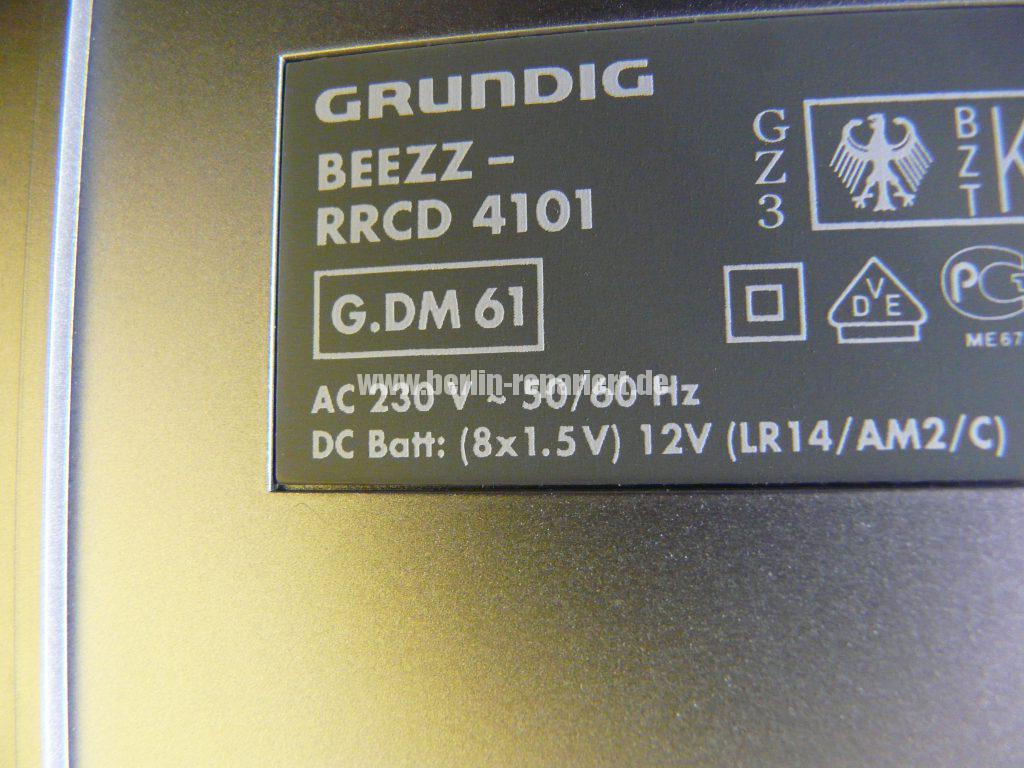 Grundig Beezz RRDC 4101, Ton leise und brumt (9)