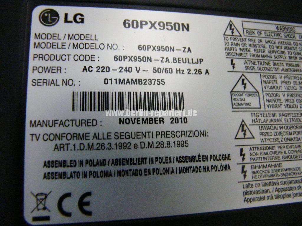 LG 60PX950N, Streifen in Bild (16)