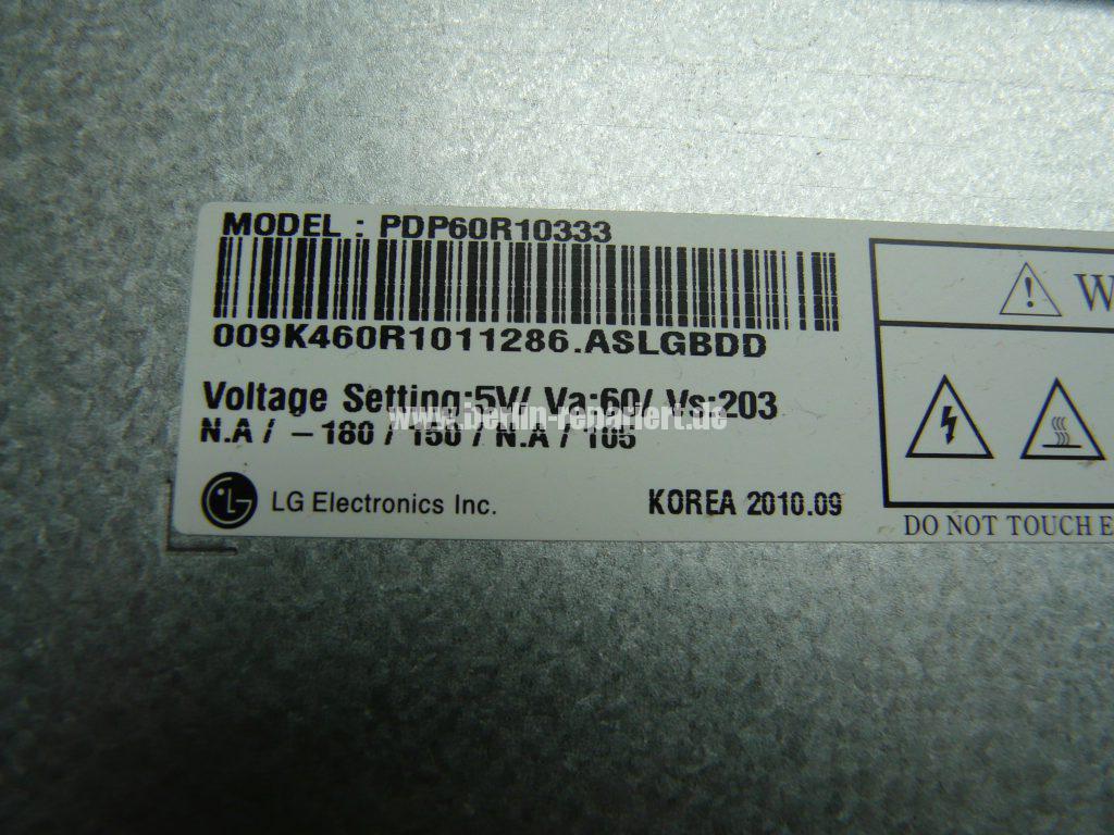 LG 60PX950N, Streifen in Bild (17)