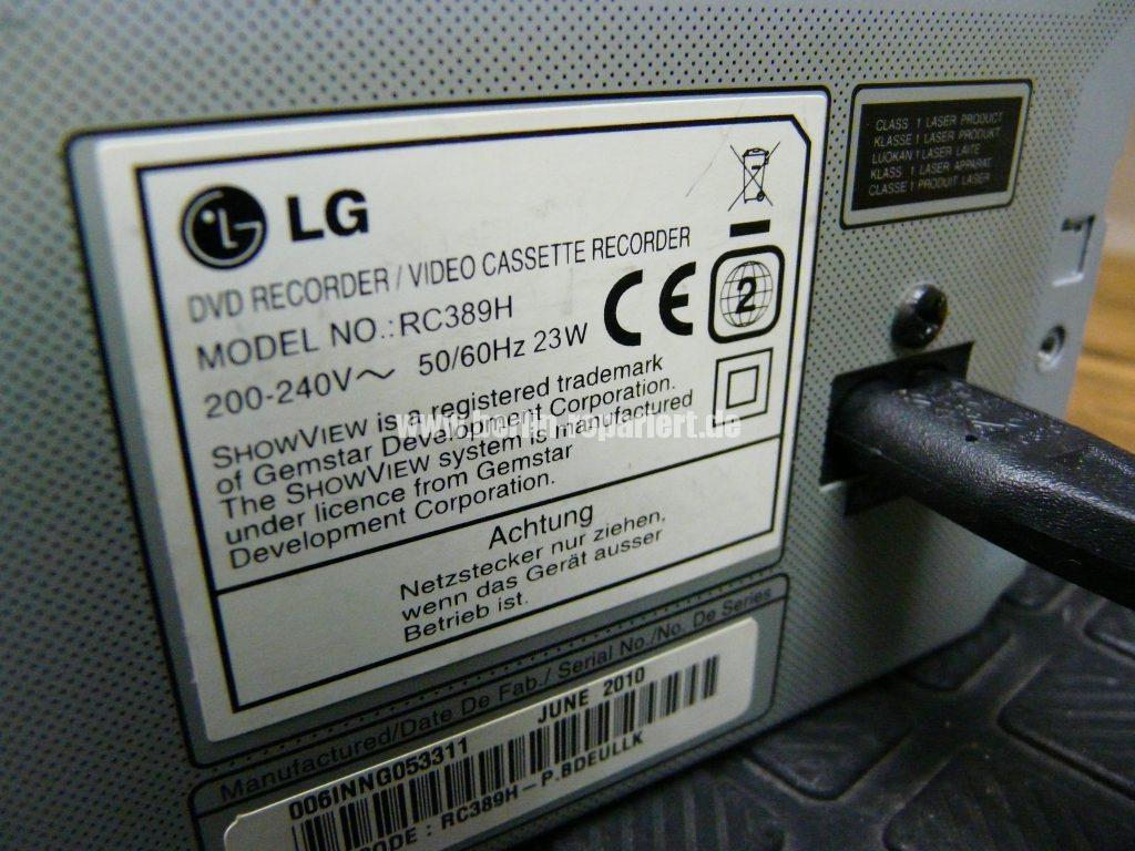 LG RC389, schlechtes Bild auf VHS (8)
