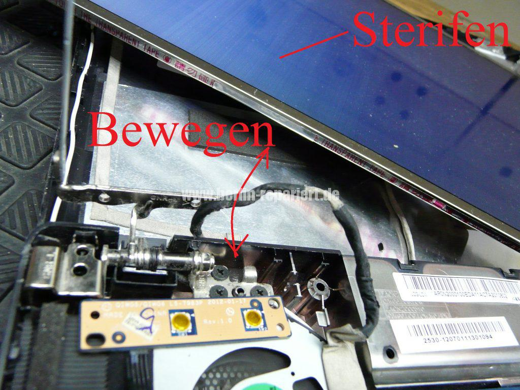 Lenovo G580, weißes Bild, Gehäuse defekt (11)