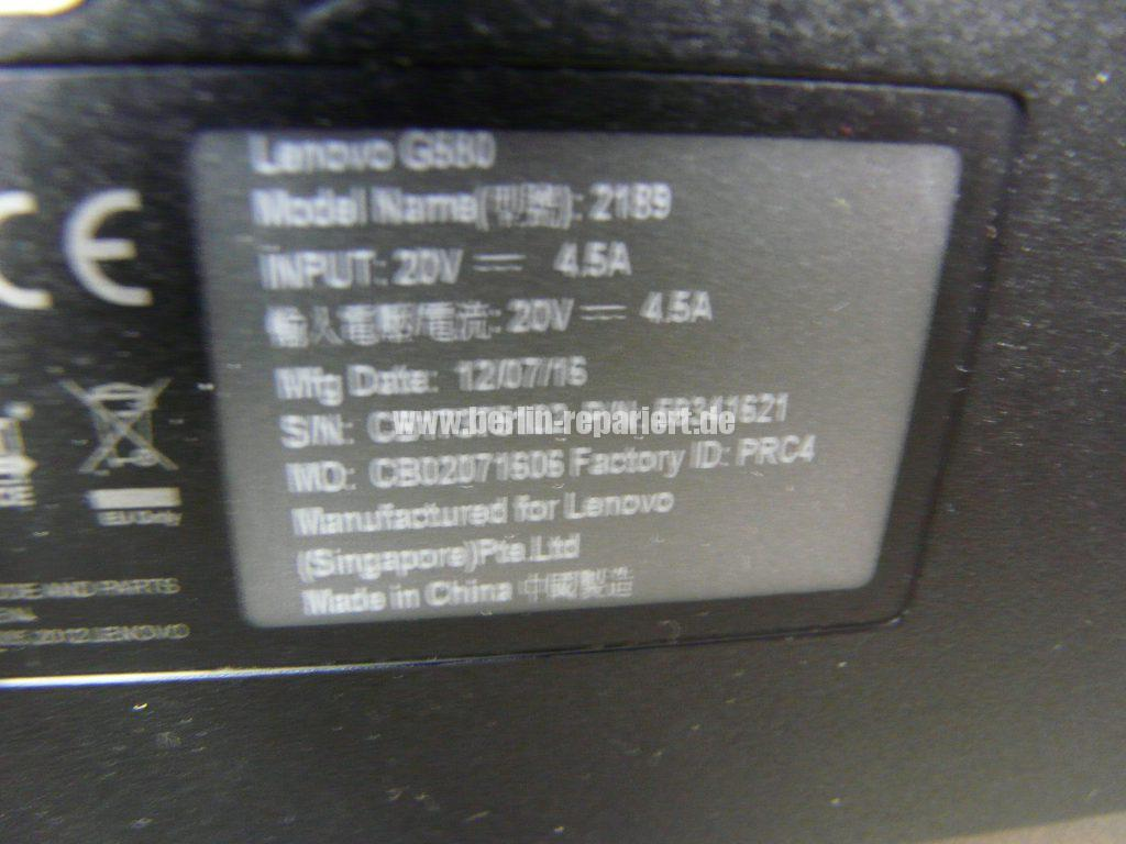 Lenovo G580, weißes Bild, Gehäuse defekt (12)