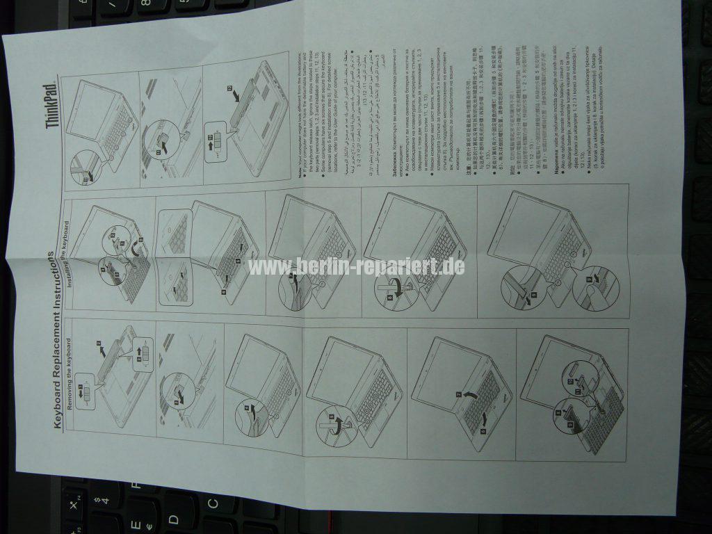 Lenovo W541, Tastatur defekt (2)