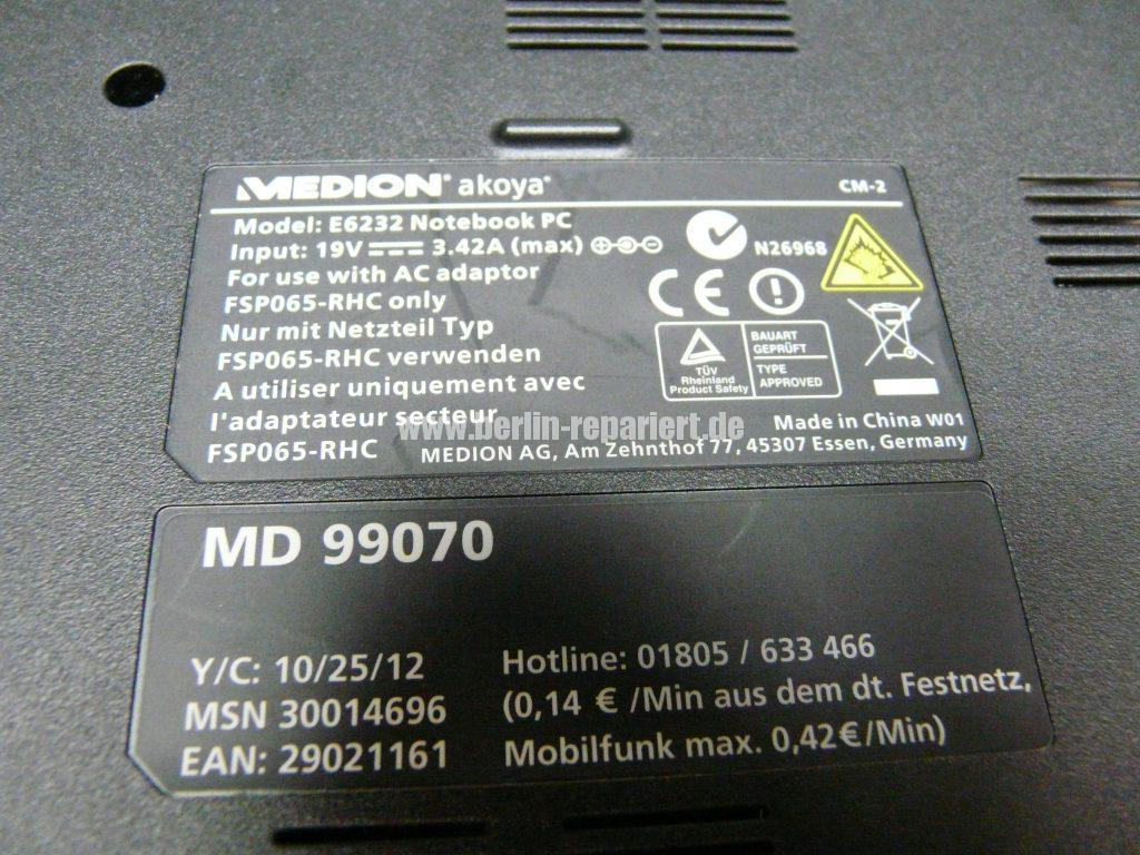 Medion MD99070, Startet nicht  (11)