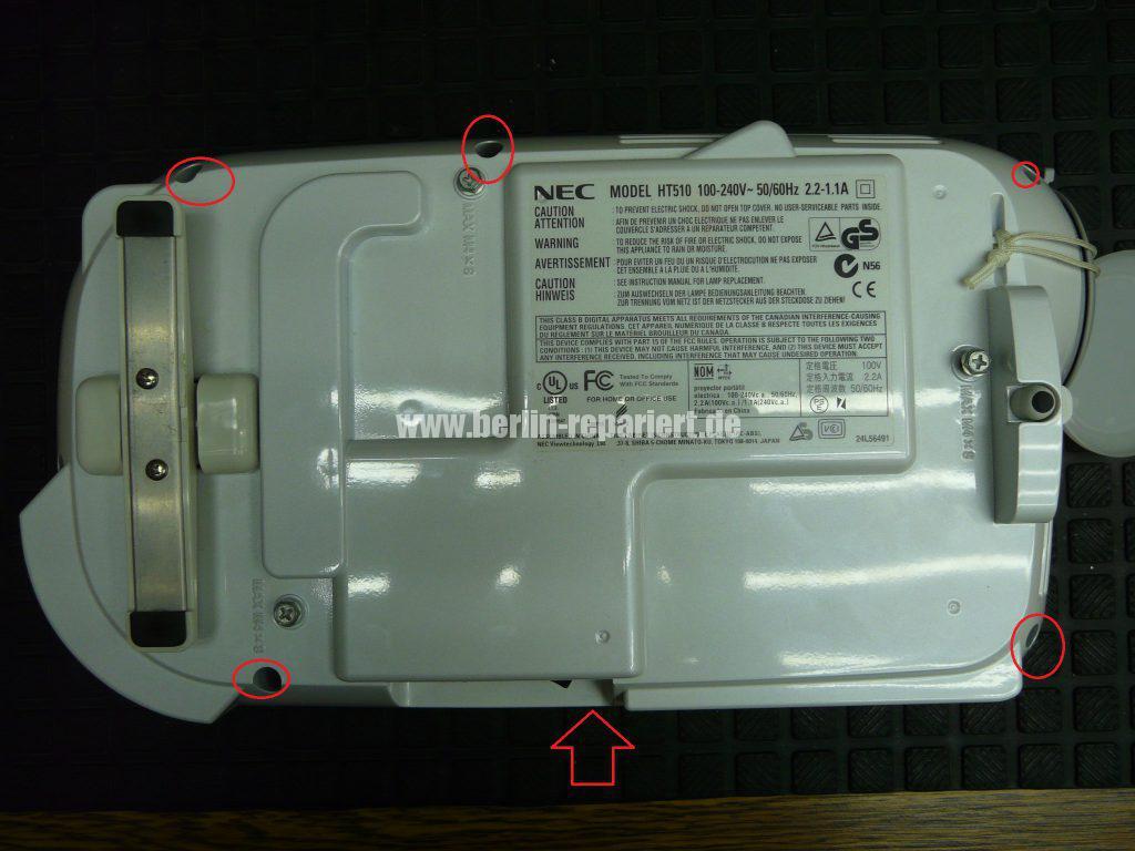NEC HT510, Streifen in Bild, keine weitere Funktionen (4)
