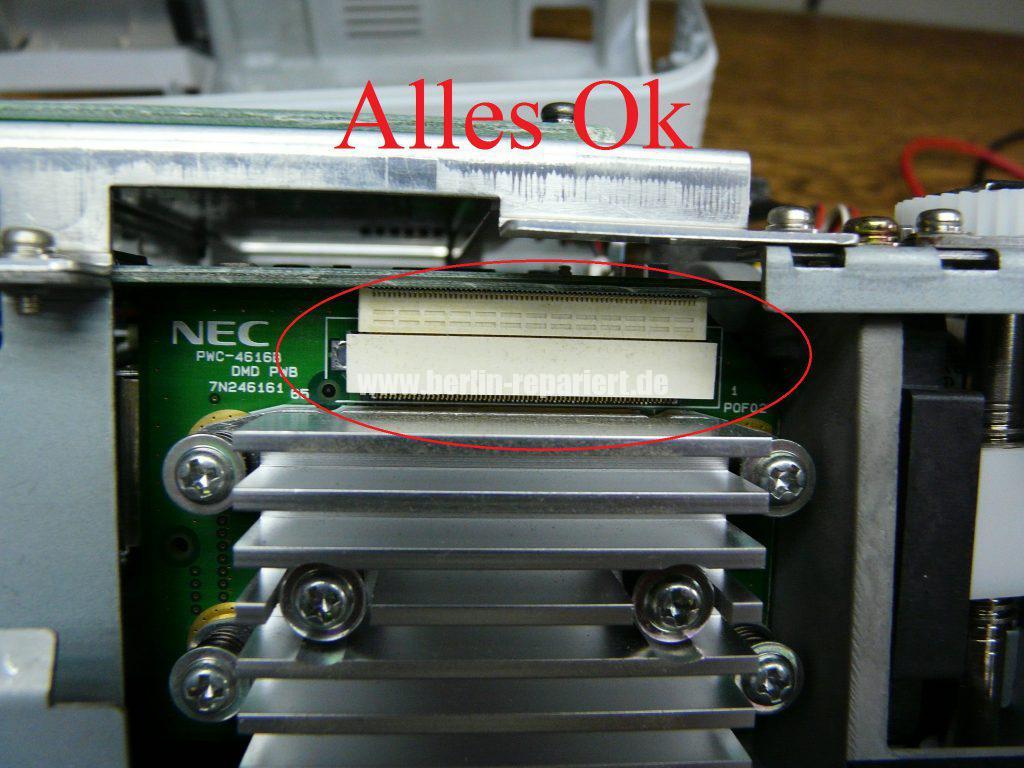 NEC HT510, Streifen in Bild, keine weitere Funktionen (7)