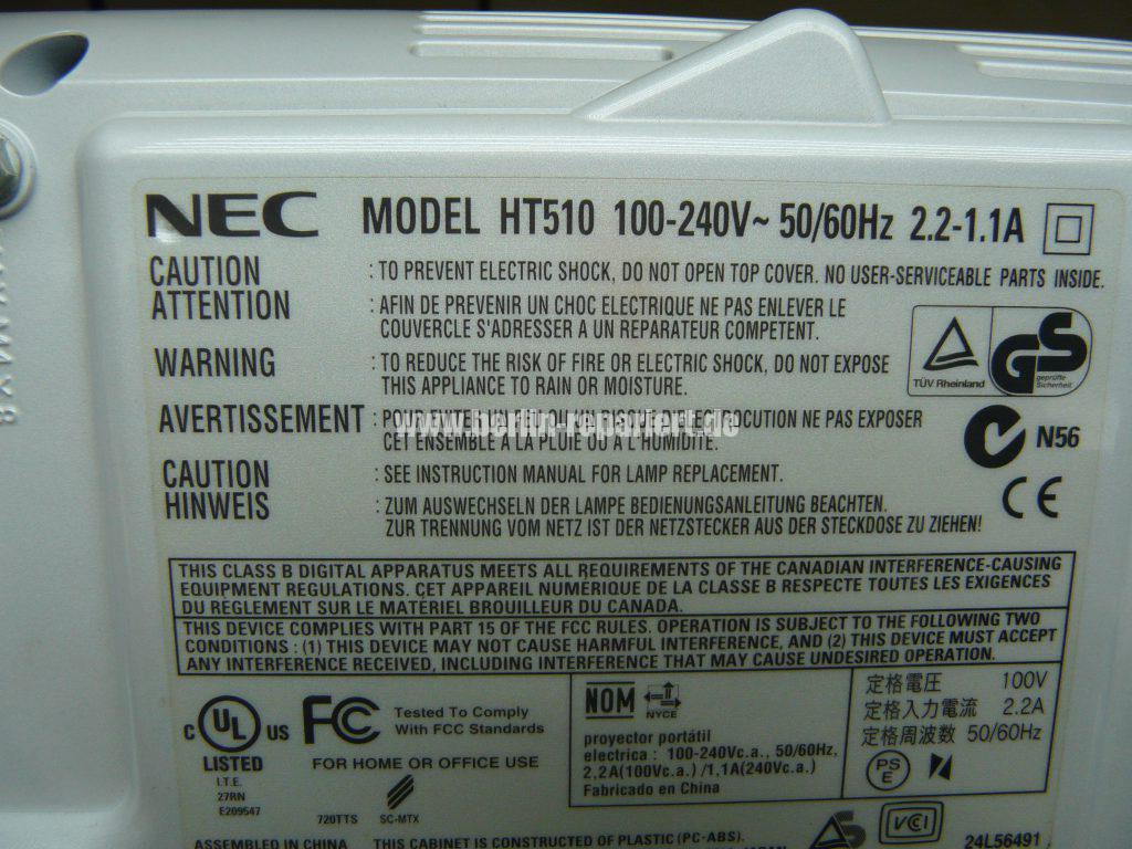 NEC HT510, Streifen in Bild, keine weitere Funktionen (9)