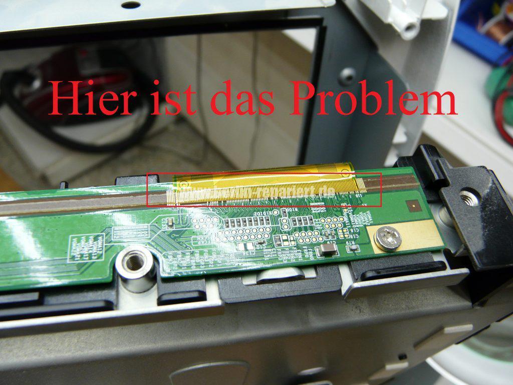 Samsung LE40A455, Display Streifen, Display Reparieren (14)