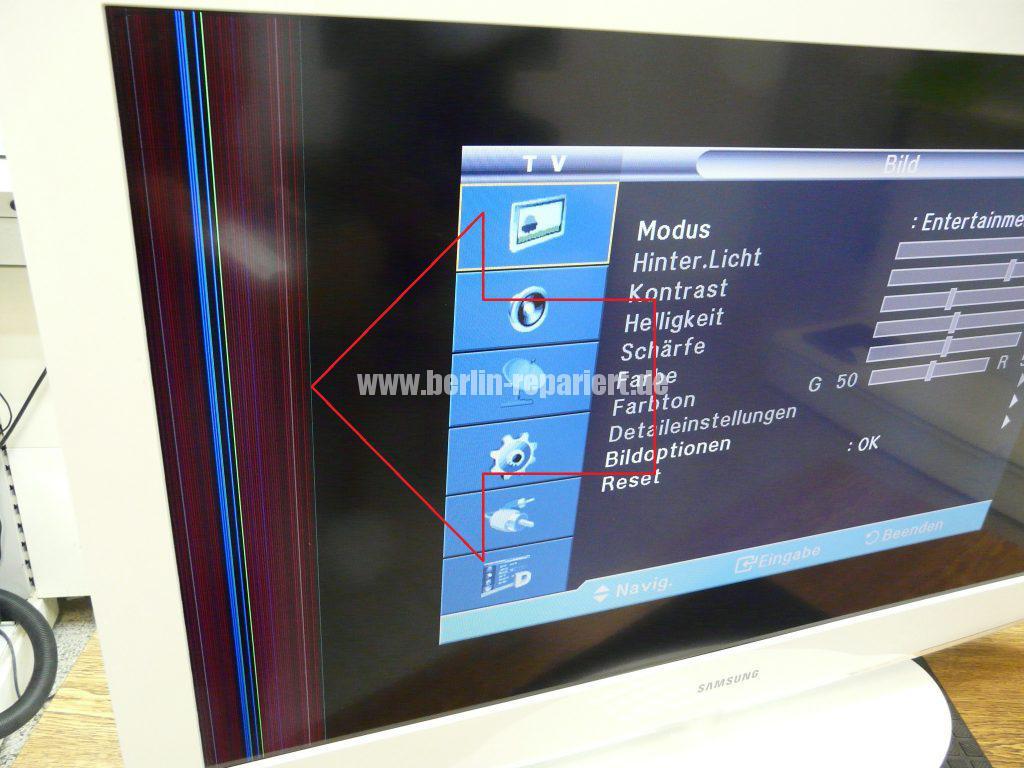 Samsung LE40A455, Display Streifen, Display Reparieren (2)