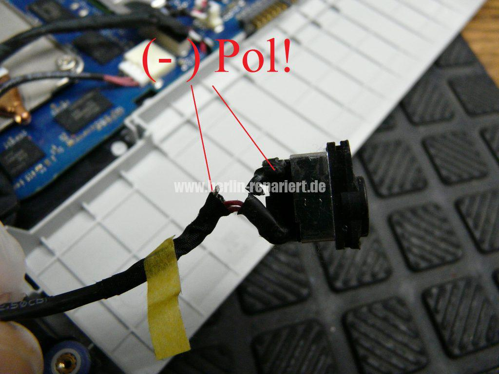 Samsung NP300E5E, keine Funktion, der Akku wird nicht geladen, Netzbuchse defekt (7)