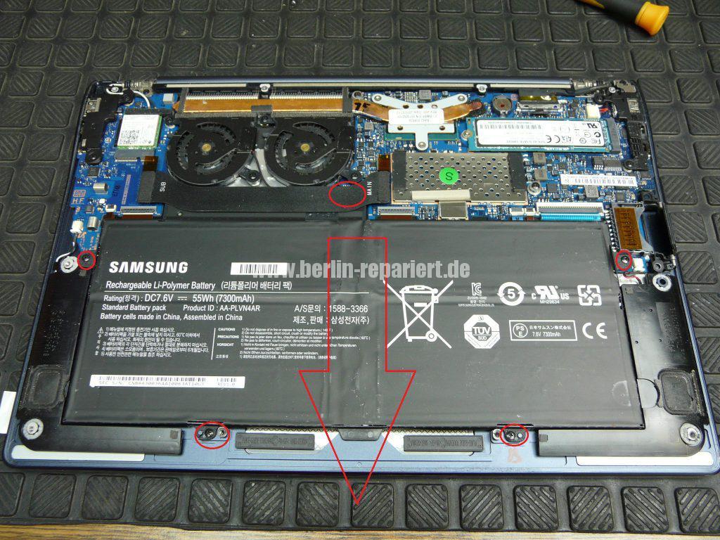 Samsung NP900x, Akku wird nicht geladen (3)