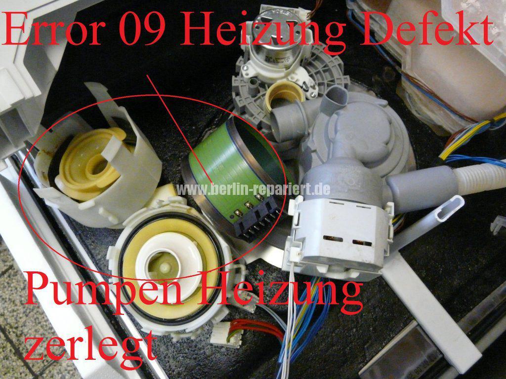 Siemens SN25M230EU, Fehler 09 (3)