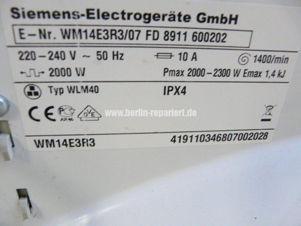 Siemens WM14E3R3, Startet nicht (5)