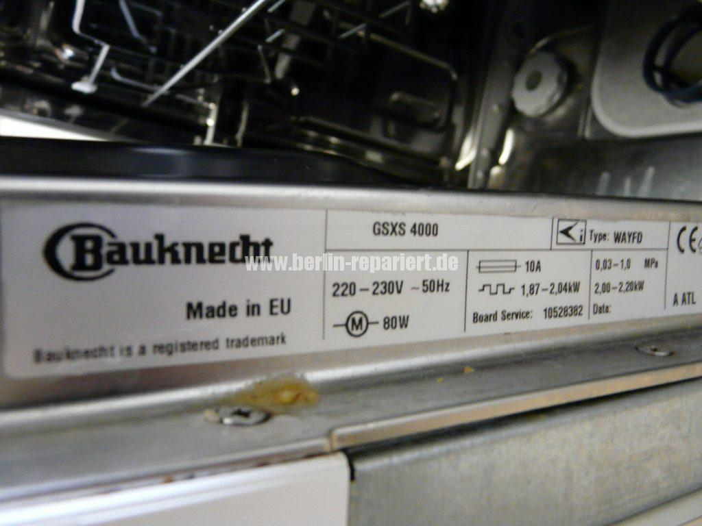 Bauknecht FSXS 4000, Pumpt nicht ab (2)