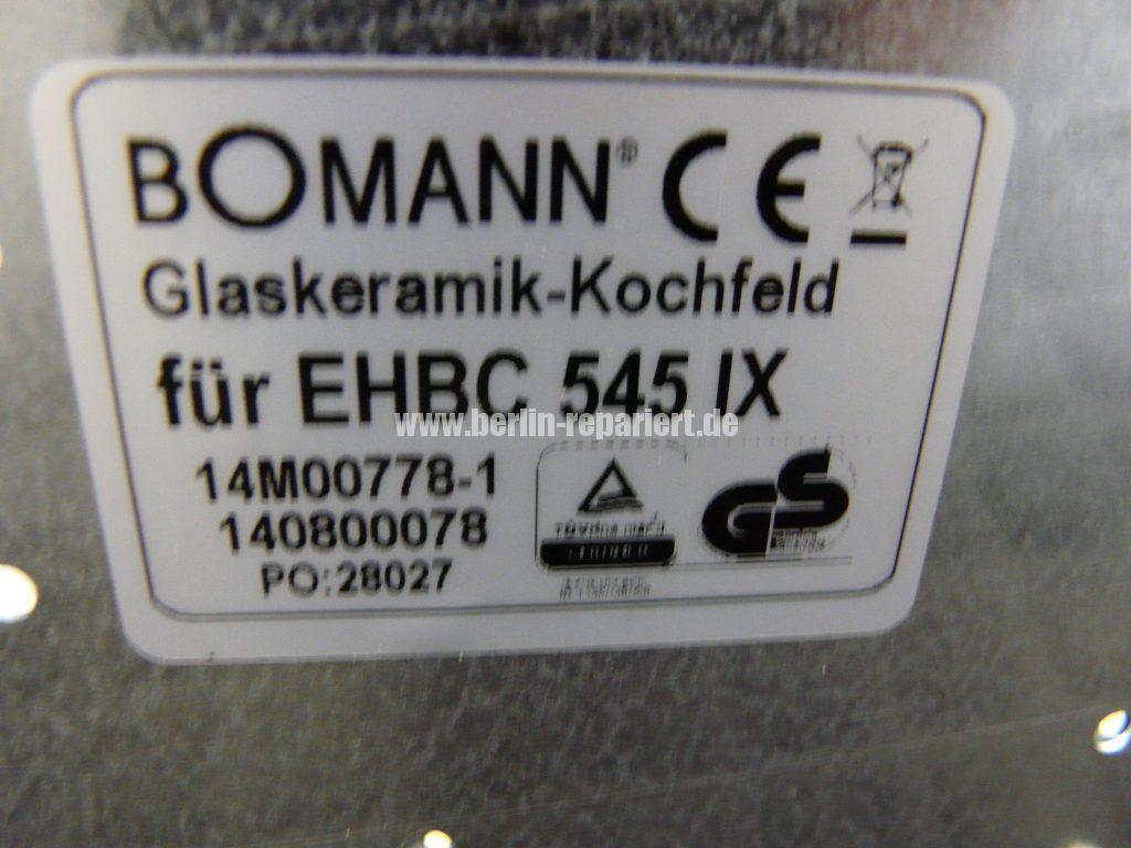 Booman EHBC 545 iX, Ceranfeld geplatzt (5)