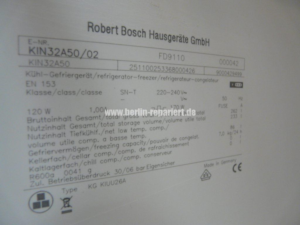 Bosch KIN32A5002, Gefrierfach zu warm (7)