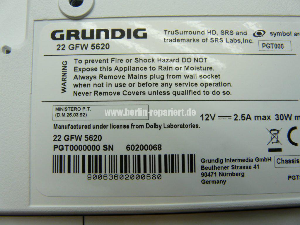 Grundig 22 GFW 5620, keine Funktion – Leon´s Blog