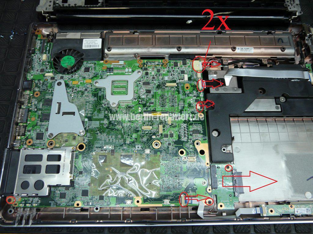 HP DV7, Lüfter Geräusche, Lüfter austauschen  (11)