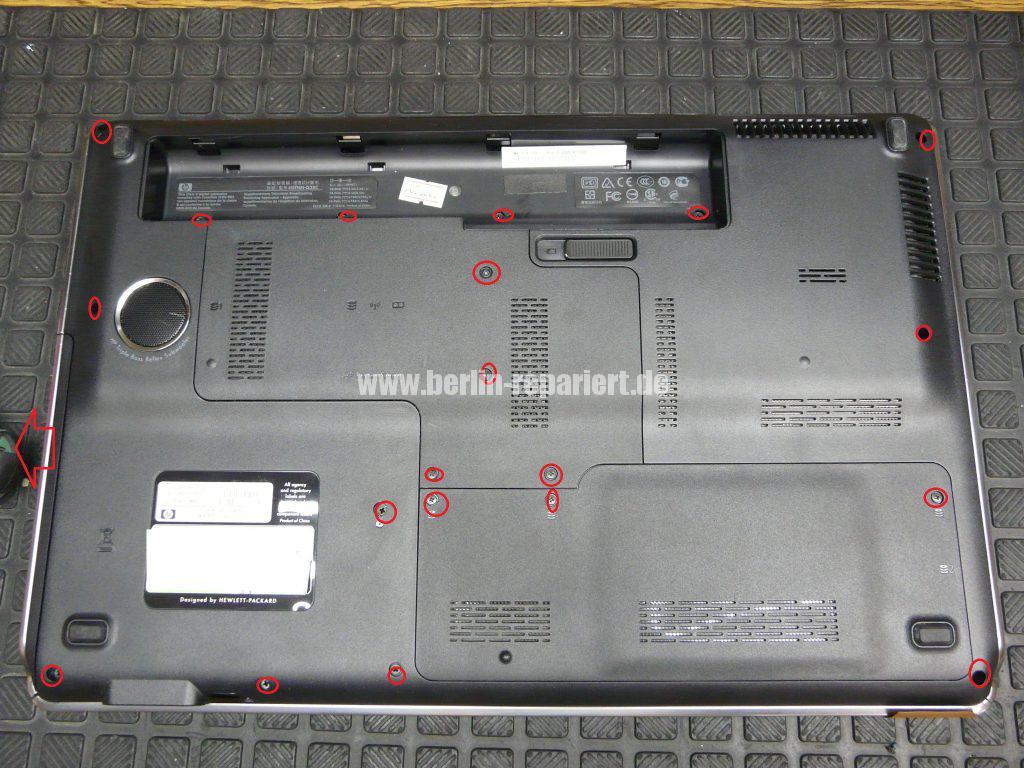 HP DV7, Lüfter Geräusche, Lüfter austauschen  (2)