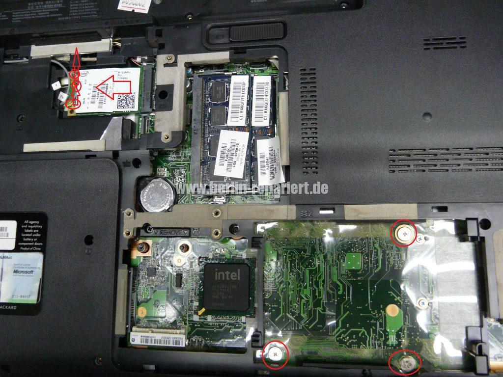 HP DV7, Lüfter Geräusche, Lüfter austauschen  (4)