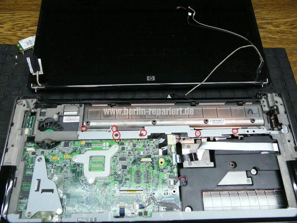 HP DV7, Lüfter Geräusche, Lüfter austauschen  (9)