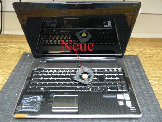 HP DV7, Lüfter Geräusche, Lüfter austauschen  (1)