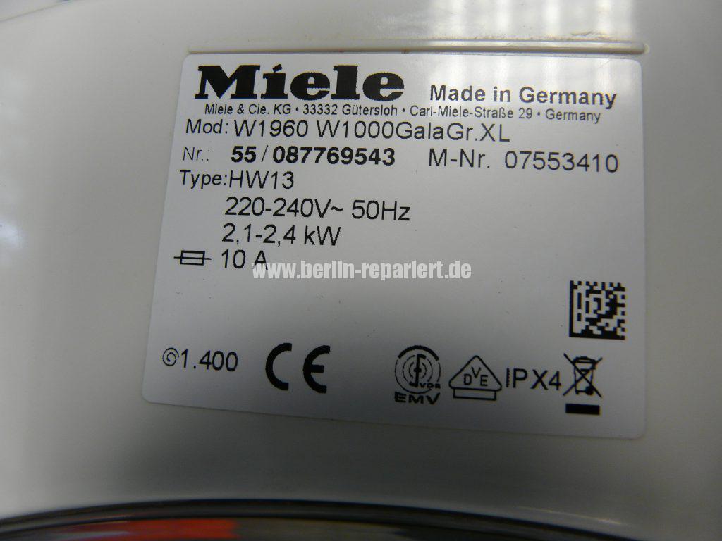 Miele GalaGrande XL W1000 W1960, Türmanschette defekt (5)