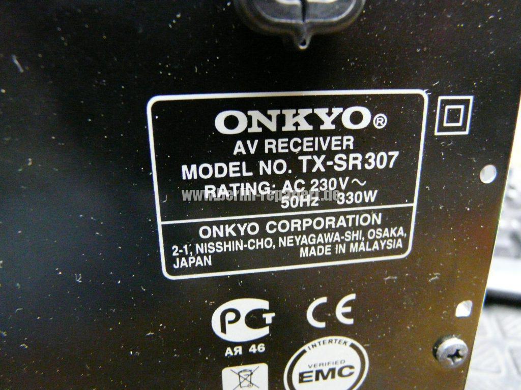 ONKYO TX-SR307, geht An dann Aus, Schützschaltung Aktiv – Leon´s Blog