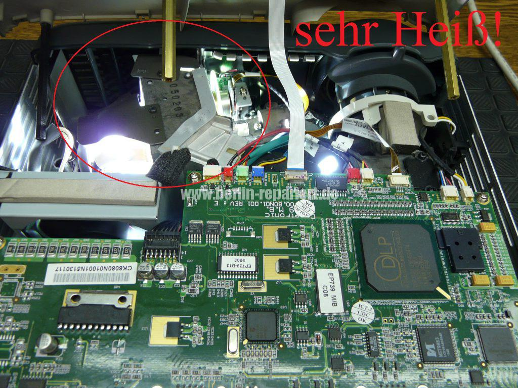 Optoma EP739, wird heiß geht aus (8)