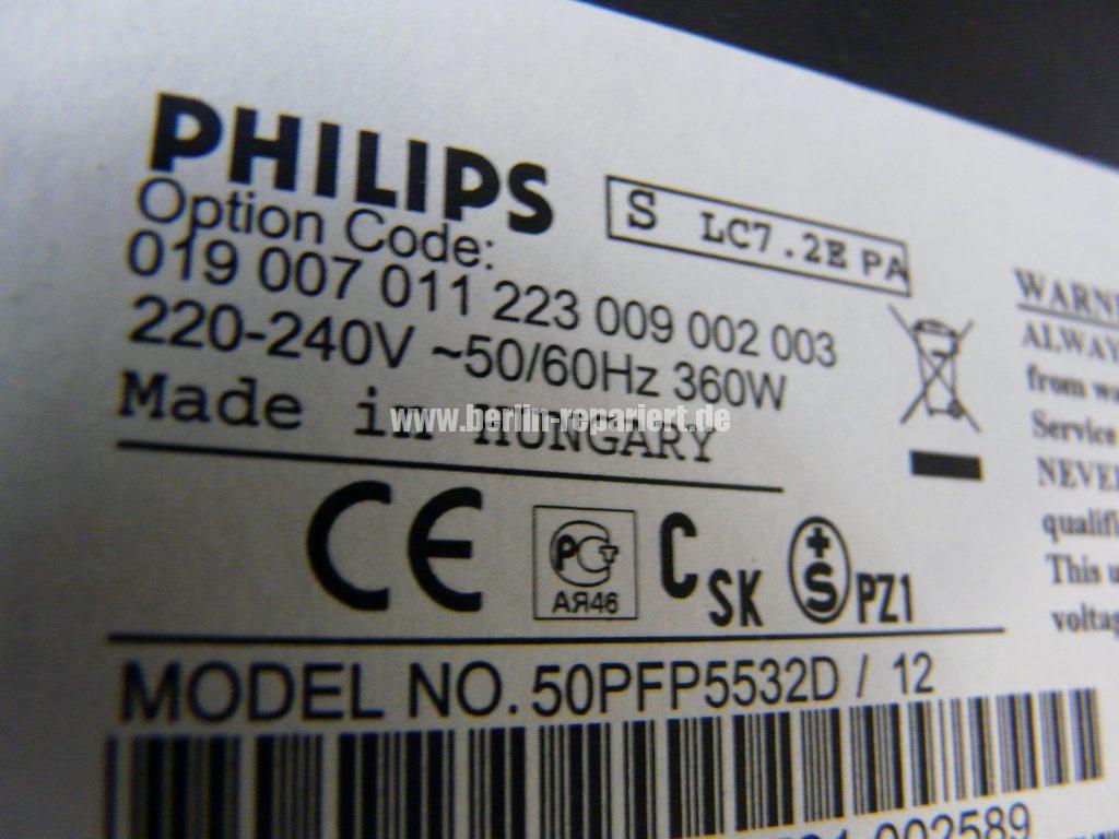 Philips 50PFP5532D12, kein Bild Ton, Schwarze Flecken in Bild (3)