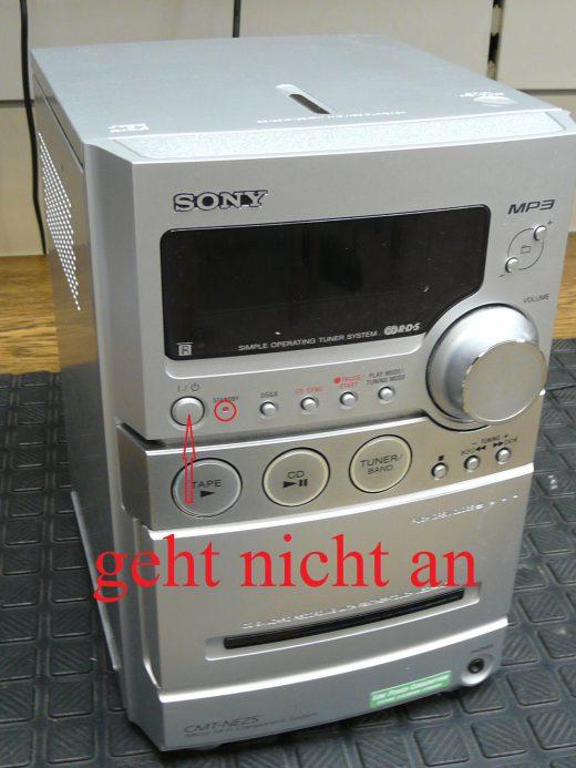 SONY HCD-NEZ5 CMT-NEZ5, geht nicht an (1)