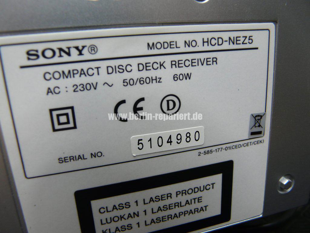 SONY HCD-NEZ5 CMT-NEZ5, geht nicht an (10)