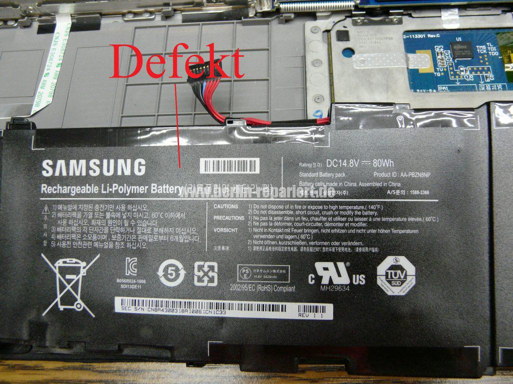 Samsung NP700Z, Akku schwach (7)
