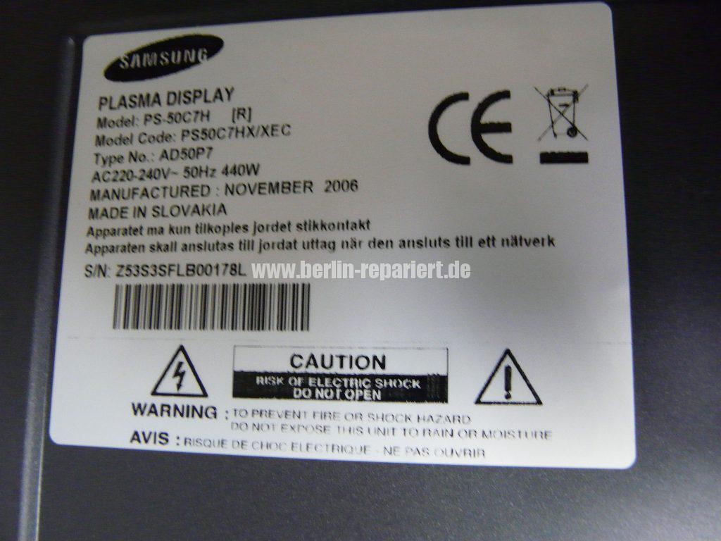 Samsung PS50C7H, kein Bild nur Ton (4)