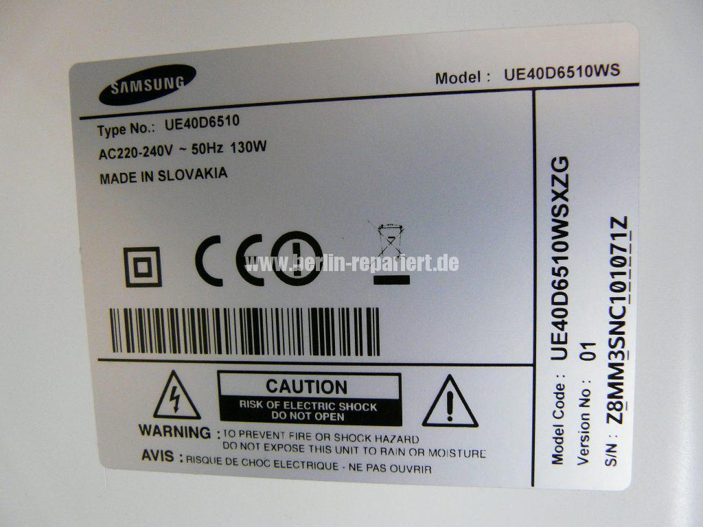 Samsung UE40D6510, kein Bild (10)