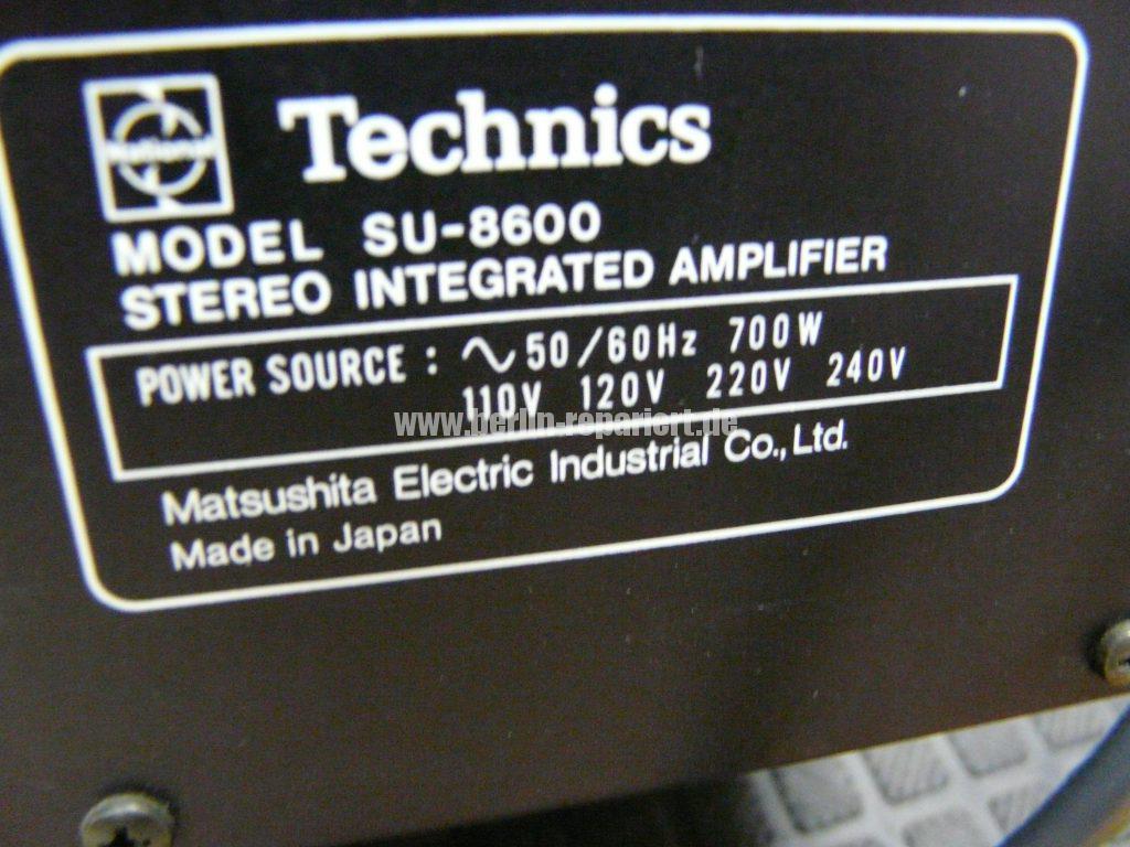 Technics SU-8600, kein Ton (18)