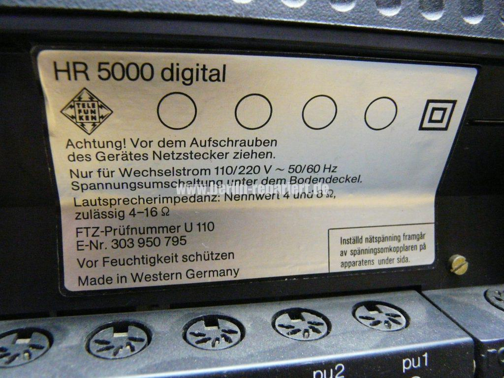 Telefunken HR 5000 Digital, Display keine Funktion (15)